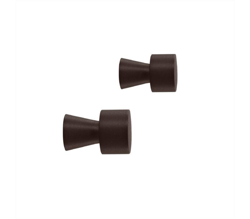 OYOY Pin Hook / Knob - BLACK 2 pcs