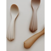Konges Sløjd Spoons Silicone - SHELL - 3 PACK