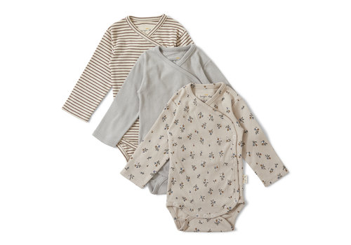 Konges Sløjd Konges Sløjd Nuevo New Born Body - PETIT AMOUR/STRIPED/BLUE - 3 PACK