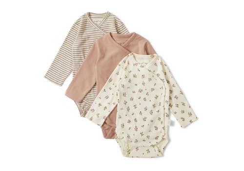 Konges Sløjd Konges Sløjd Nuevo New Born Body - PETIT AMOUR/STRIPED/BLUSH - 3 PACK