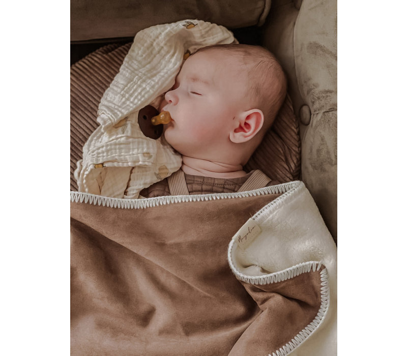 MAYALIA Blanket Suede Teddy - WALNUT