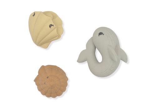 Konges Sløjd Konges Sløjd Bath Toys Ocean - WHALE/SHELL/CLAM