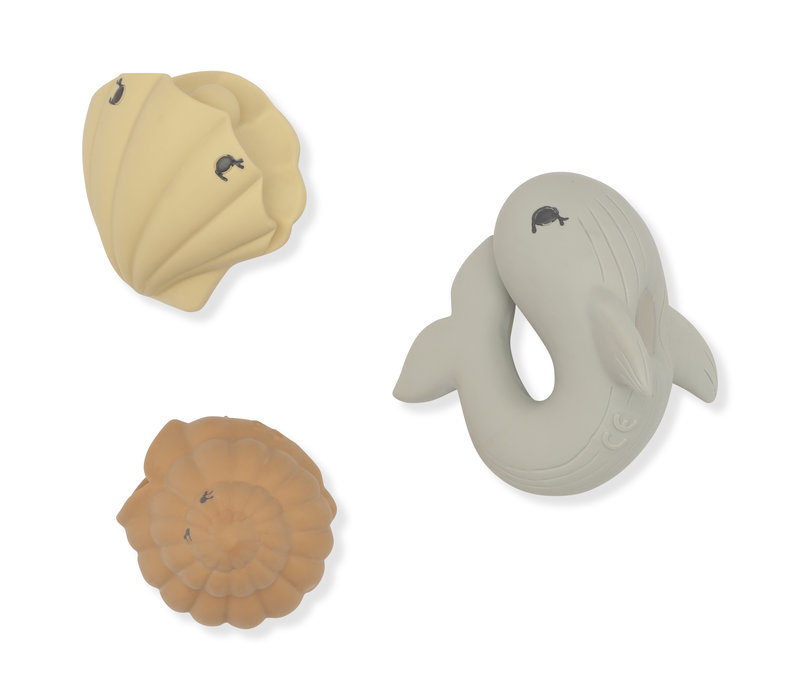 Konges Sløjd Bath Toys Ocean - WHALE/SHELL/CLAM