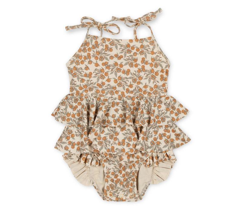 Konges Sløjd Manuca Frill Swimsuit -  ORANGERY BEIGE