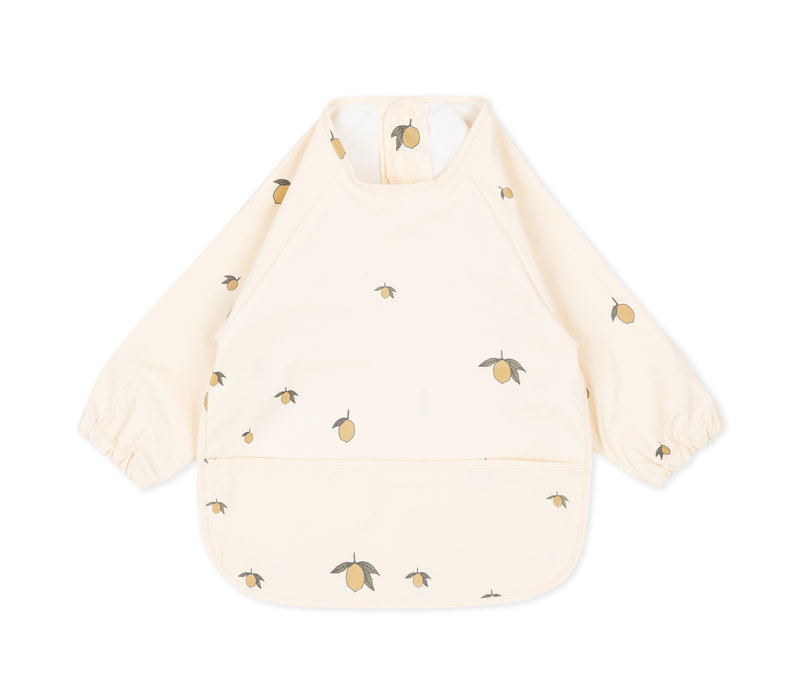 Konges Sløjd Dinner Bib Long Sleeve  - LEMON