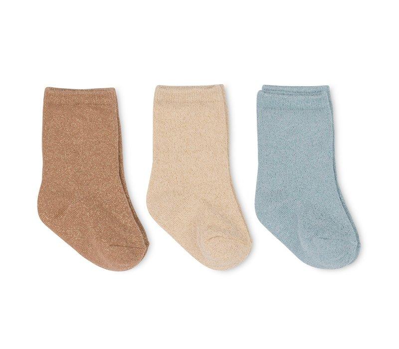 Konges Sløjd 3 Pack Lurex Socks - MOONBEAM
