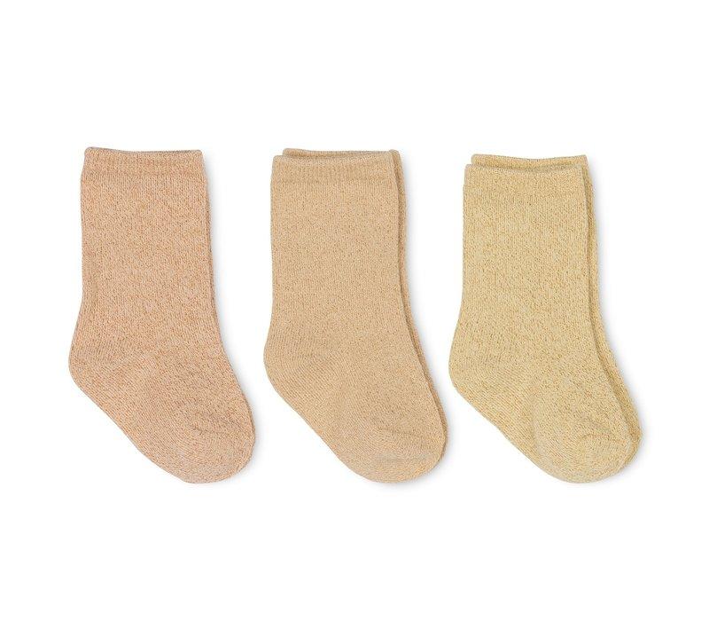 Konges Sløjd 3 Pack Lurex Socks - SUNRISE
