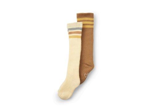 Konges Sløjd Konges Sløjd 2 Pack Long Socks  - BREEN/LEMON SORBET