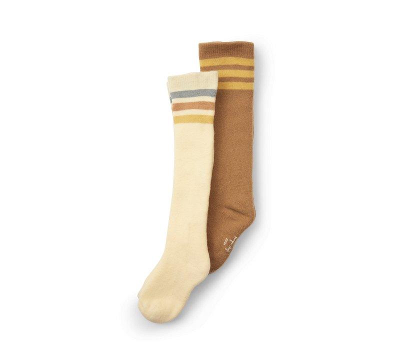 Konges Sløjd 2 Pack Long Socks  - BREEN/LEMON SORBET