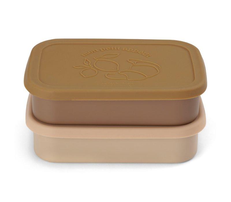 Konges Sløjd Food Boxed Lid - ROSE - 2 PACK