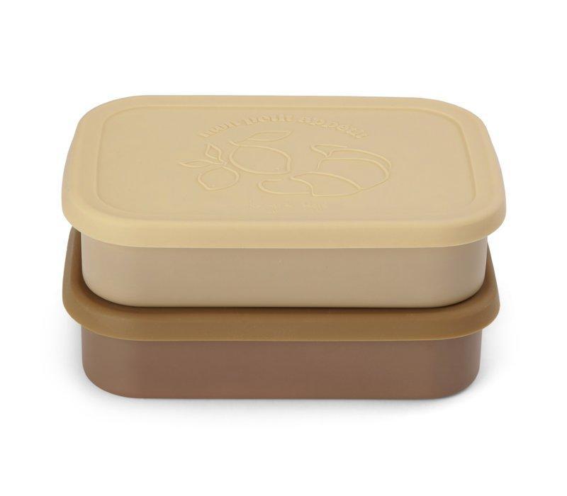 Konges Sløjd Food Boxed Lid - VANILLA - 2 PACK