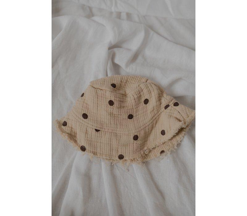 KOREAN WEAR Anggo Bucket Hat-BEIGE