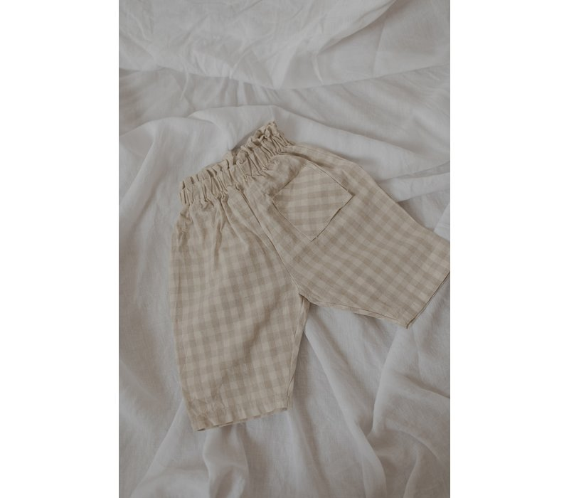 KOREAN WEAR Beton Pants - BEIGE CHECK