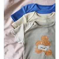 Konges Sløjd Cue Short Sleeve Rib Body - LEMONADE/BLAZING/HYDRANGA - 3 PACK