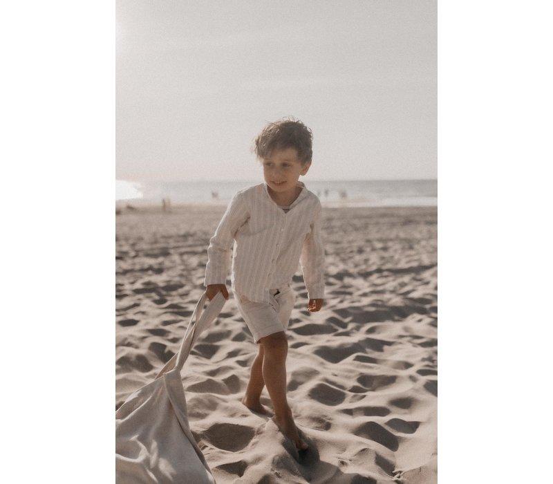 MAYALIA Beach Mom Bag Linnen – TAUPE