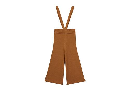 Yuki Kidswear YUKI Knitted Trousers (removable straps) - RUST