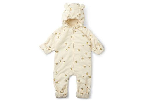 Konges Sløjd Konges Sløjd New Born Onesie Suit Hood - LEMON