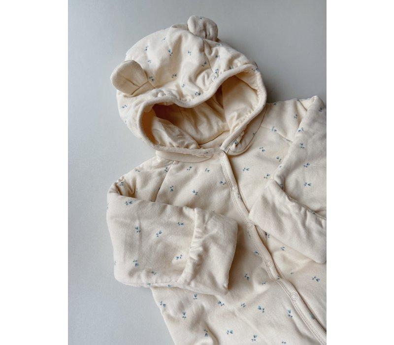 Konges Sløjd New Born Onesie Suit Hood - PETIT BISOU BLUE