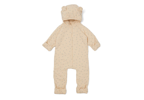 Konges Sløjd Konges Sløjd New Born Onesie Suit Hood - PETIT BISOU BLUE