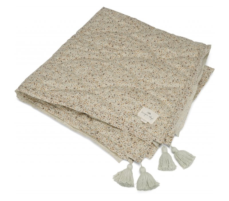 Konges Sløjd Baby Quilt Cotton Spread/Blanket - FLOWER FIELD