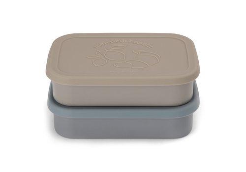 Konges Sløjd Konges Sløjd Food Boxed Lid - BLUE - 2 PACK