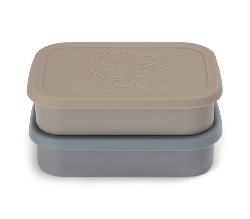 Konges Sløjd Food Boxed Lid - BLUE - 2 PACK