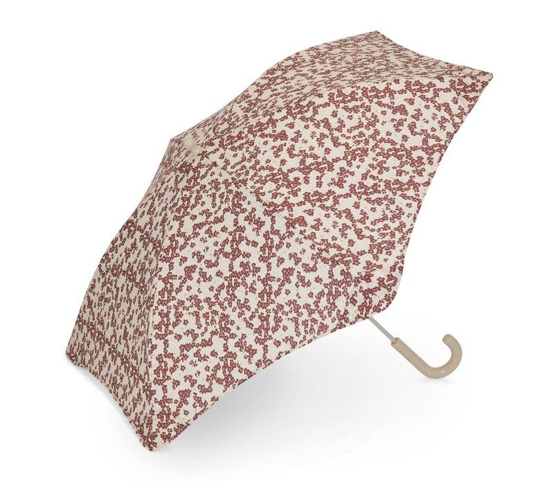 Konges Sløjd Kids Umbrella - WINTER LEAVES DARK RED