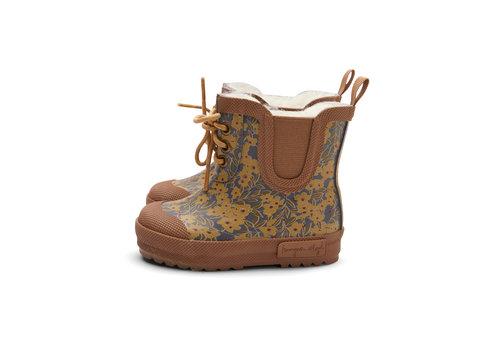 Konges Sløjd PRE ORDER - Konges Sløjd Thermo Boots Print - WINTER LEAVES MUSTARD