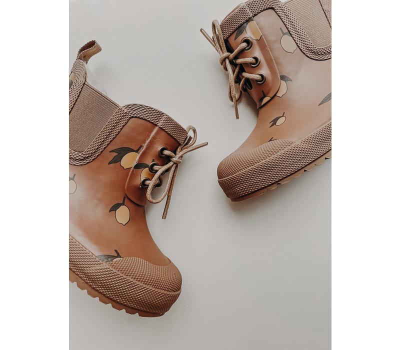 PRE ORDER - Konges Sløjd Thermo Boots Print - LEMON BROWN