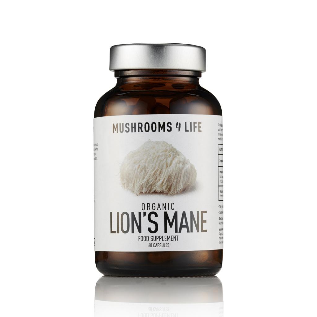 Mushrooms4Life [Hericium erinaceus] – Lion's Mane Biologisch 60 capsules