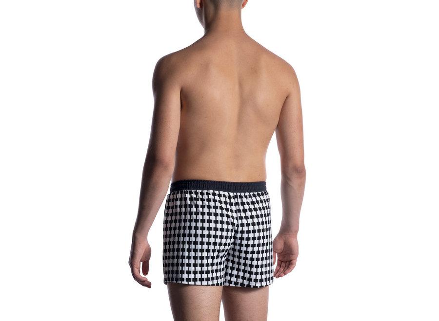 M2050 Sport Shorts Black White