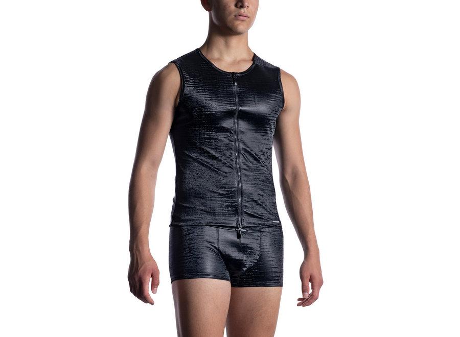 M2052 Zipped Vest Black