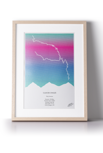 Print Club Des Cingles (3 ways up Ventoux)
