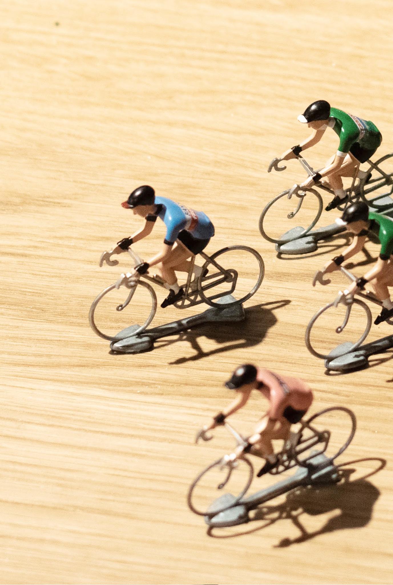 Miniatuur wielrenners - Cycling hero's 3 st (diverse varianten)-1