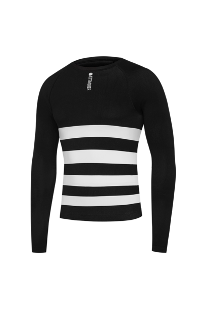 Undershirt Winter Weight Long Sleeved Black
