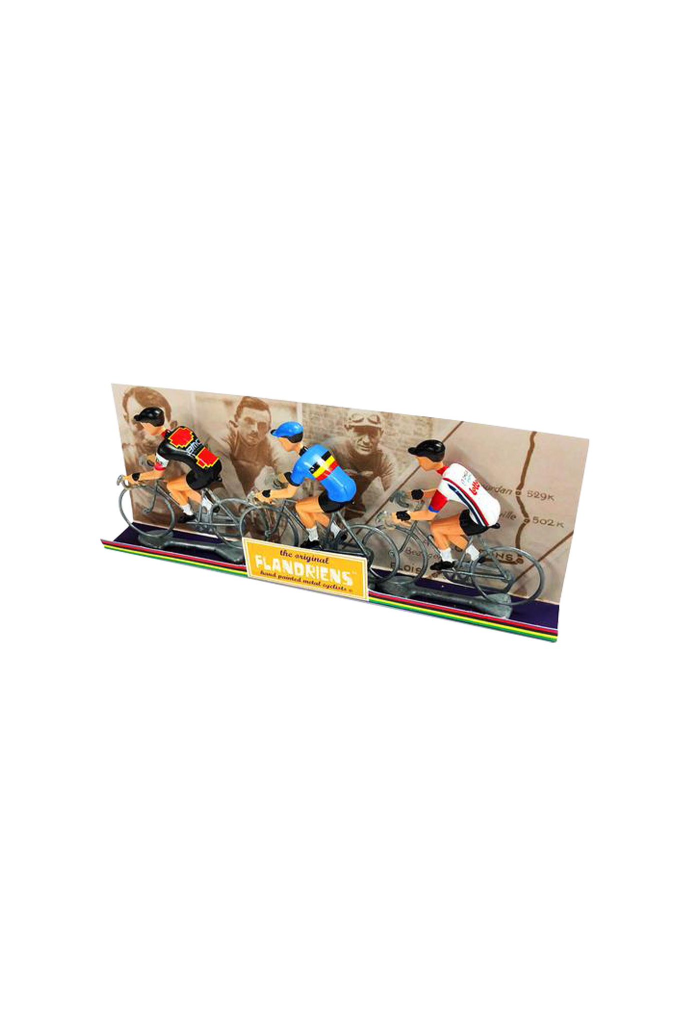 Miniatuur wielrenners - Cycling hero's 3 st (diverse varianten)-2