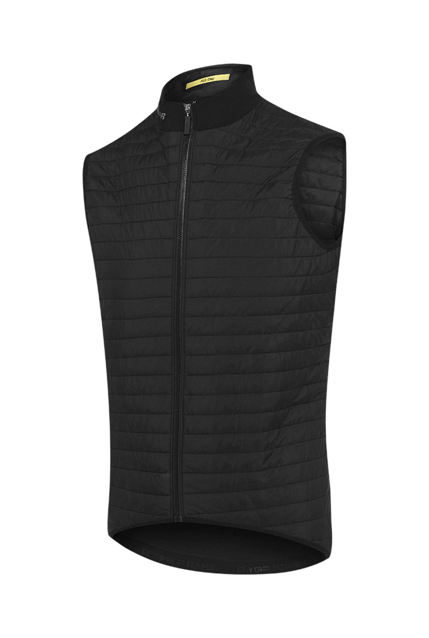 All Day Quilted Gilet zwart-1