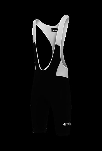 Adventure Bib Short Black Reflective White Logo
