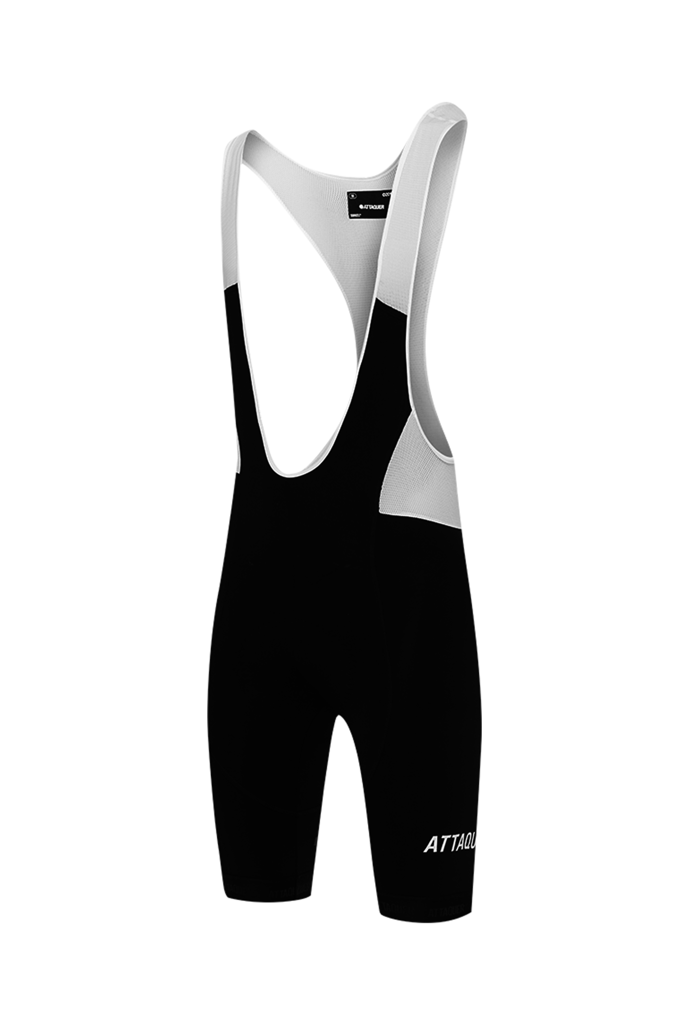 Adventure Bib Short Black Reflective White Logo-1