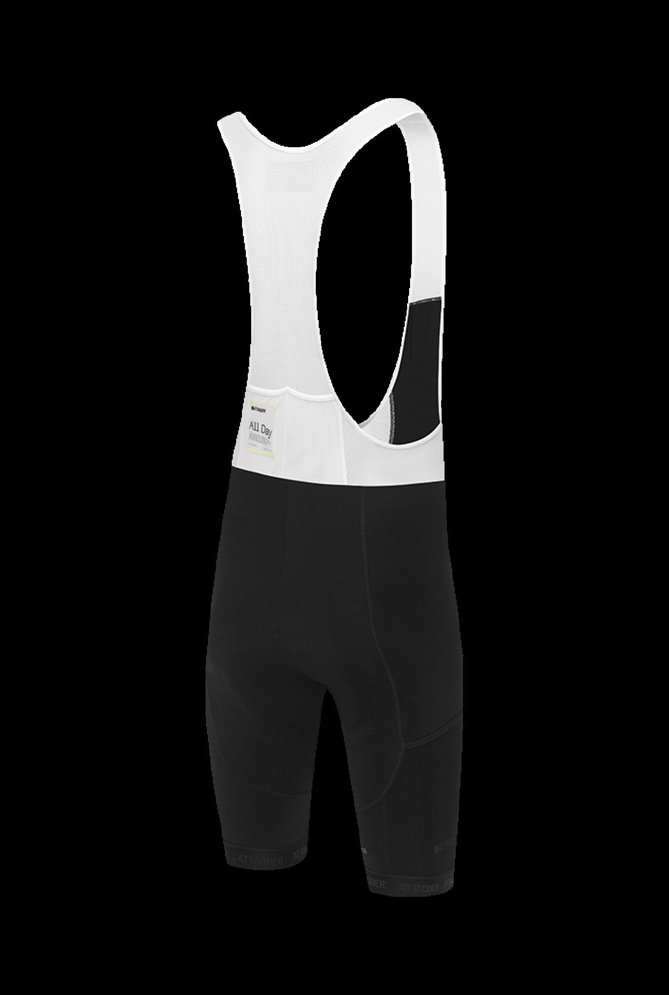 Adventure Bib Short Black Reflective White Logo-2