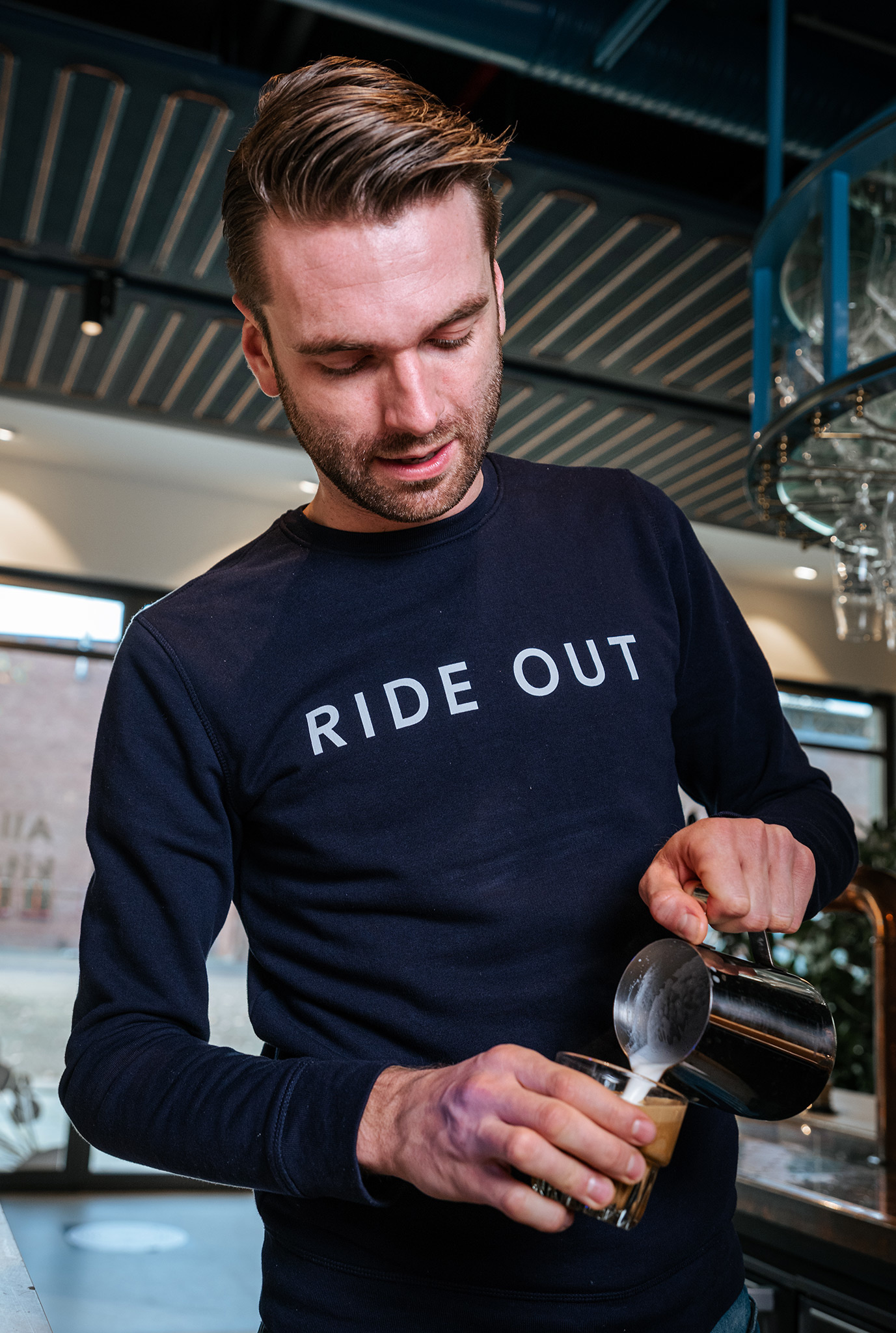 Ride Out - crewneck sweater - french navy-1