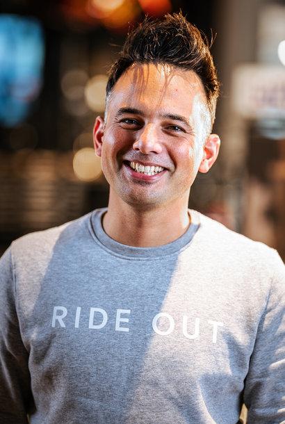 Ride Out Trui (logo recht) Heather Grey