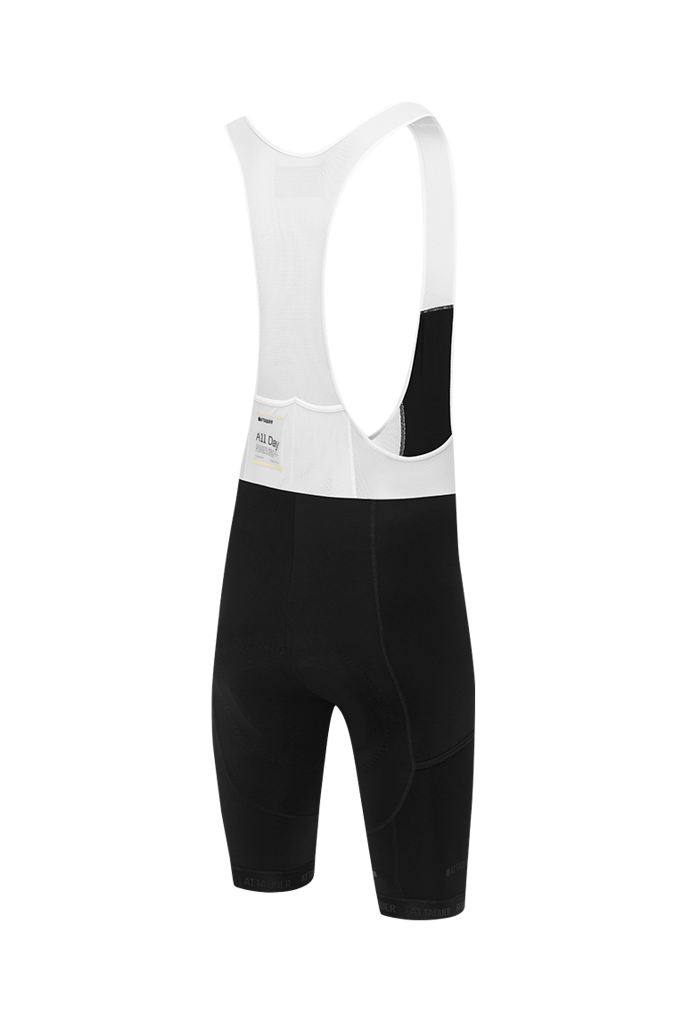 Adventure Bib Short Black Reflective White Logo 2021-2