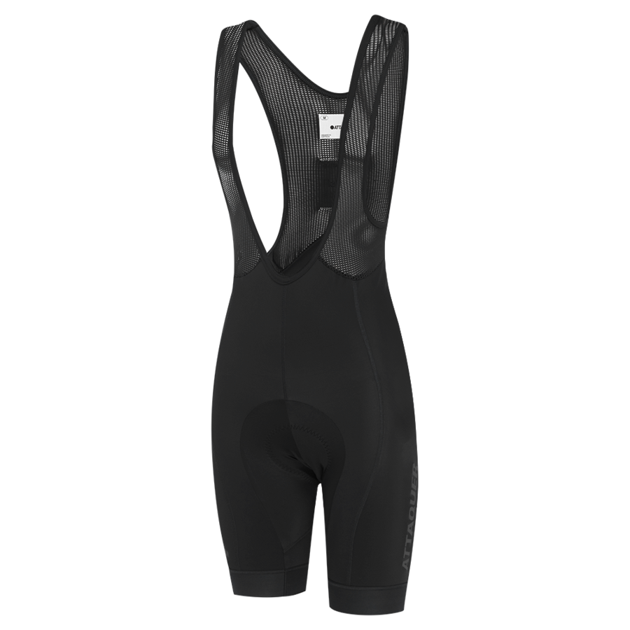 Womens Race Bib Short Black Reflective Tonal Logo 2021-1