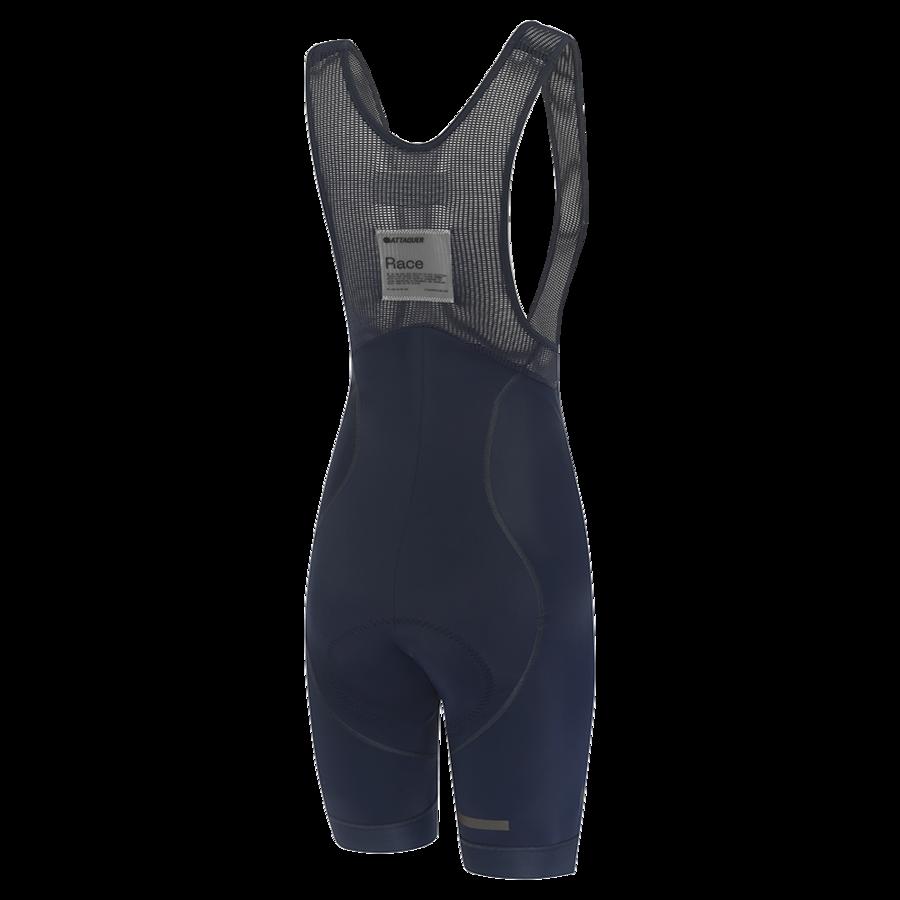Womens Race Bib Short Navy Reflective Tonal Logo-2