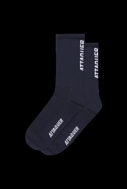 Socks Vertical Logo Navy Large