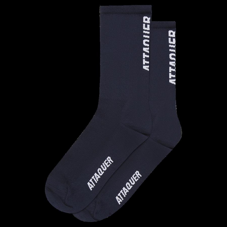 Socks Vertical Logo Navy Large-1