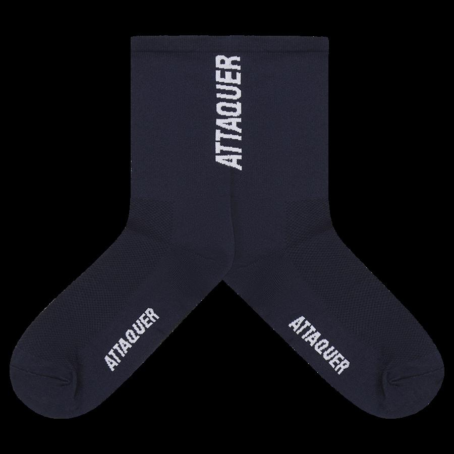 Socks Vertical Logo Navy Large-2