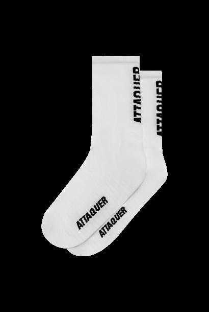 Socks Vertical Logo White Large