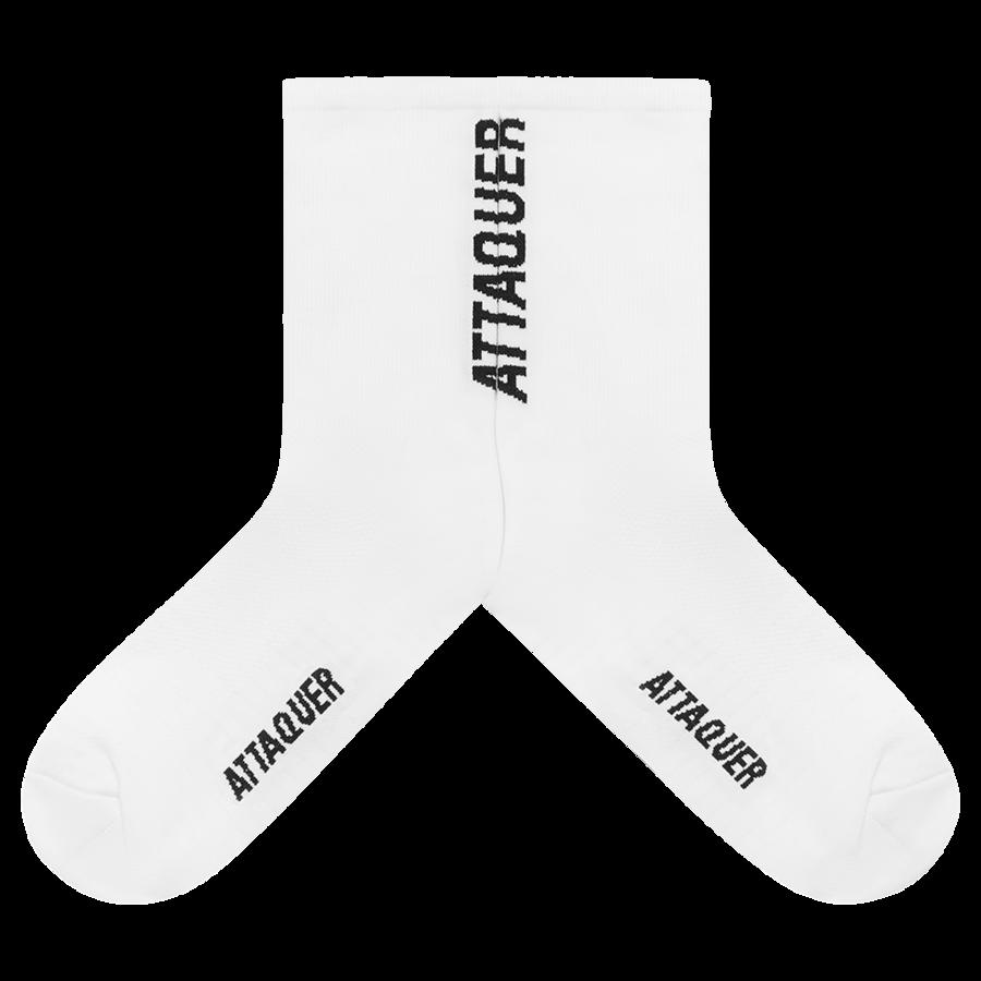 Socks Vertical Logo White Large-2